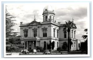 Postcard Court House at Willows, California CA RPPC  D15