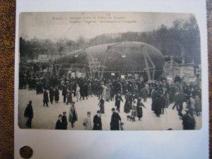 France Postcard WWI Paris German Zeppelin Debris Wreck