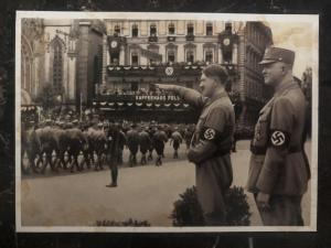 Mint Germany RPPC real picture Postcard Hitler in the march of leipzig 1933