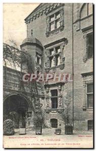 Old Postcard From The Toulouse Court Hotel De Lasbordes Or Du Vieux Raisin