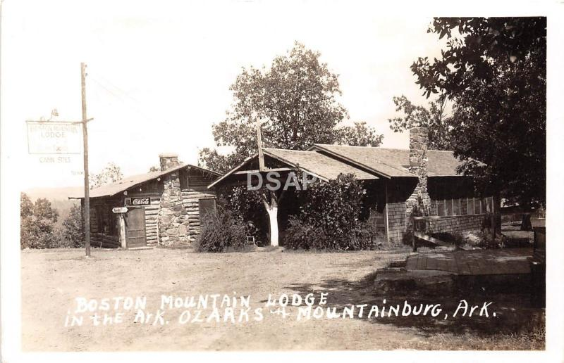 Arkansas AR Real Photo RPPC Postcard c1940s MOUNTAINBURG Boston Mountain Lodge