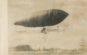 Brockton,Massachusetts 1906 Brockton Fair-Knabenshue Airship RPPC Photo Postcard