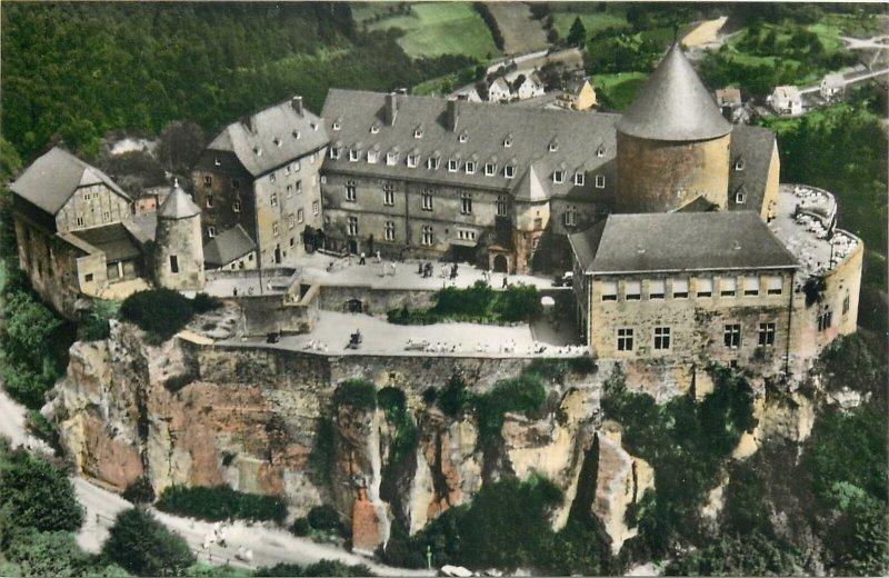 Postcard Germany Schloss Waldeck am Edersee Hotel-Restaurant-Cafe