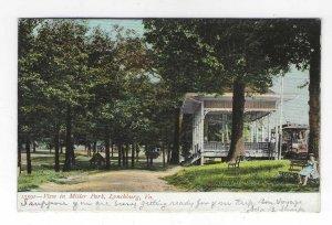 1909 View in Miller Park, Lynchburg, Virginia UDB Postcard