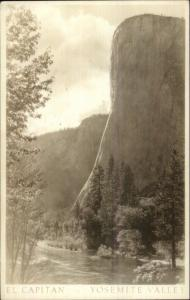 Yosemite National Park El Capitan c1920s-30s Real Photo Postcard