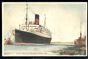 Cunard White Star RMS Laconia Postcard