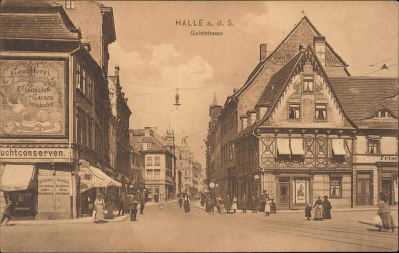 Halle a d S Germany Geiststrasse animated