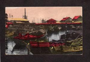 Japan Postcard Japanese Boats Bridge Yokohama Carte Postale