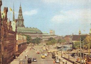B110649 Denmark Copenhagen Observation Tower Knippels Bridge Cars Tram