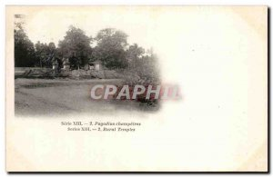 Old Postcard India India pagodins champetres