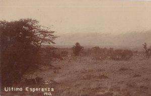 Ultimo Esperanza Argentina 1913 Antique Real Photo Postcard