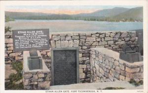 New York Fort Ticonderoga The Ethan Allen Gate Curteich