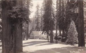 Lodge At Hartsook California 1934 Real Photo