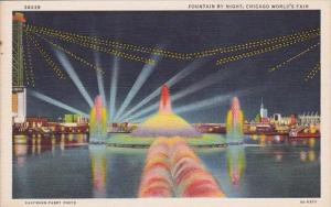 Fountain By Night Chicago World's Fair 1933