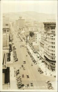 Salt Lake City UT Main St. Birdseye View Real Photo Postcard