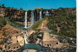 Syria Waterfall of Tell Shehab postcard