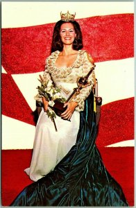 Vintage 1972 MISS SOUTH CAROLINA Postcard Pam Inabinet / Greenville SC Unused