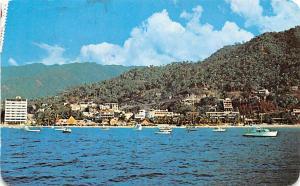 Mexico Old Vintage Antique Post Card Playa del Sol Puerto Vallarta Postal Use...