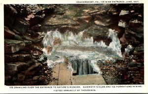 Pennsylvania Coudersport Ice Mine Entrance June 1907 Curteich