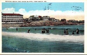 Maine York Beach Bathing Beach and Union Bluffs 1928