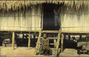 Papua New Guina Nude Village Woman Kaloka the New Guinea Queer Postcard
