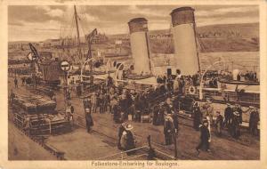 BR81841 folkestone embarking for boulougne ship bateaux    uk