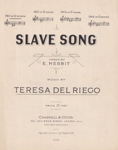 Slave Song Teresa Del Riego Olde Sheet Music