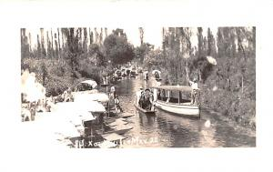 Mexico Postcard Tarjeta Postal River Boats
