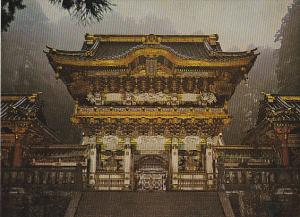 Japan Nikko The Yomeimon Gate in Twilight