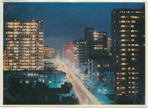 JOHANNESBURG by Night, South Africa, 1966, used Postcard