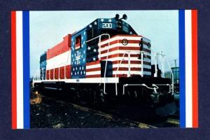 ME Boston & Maine Minuteman Train Railroad RR Postcard