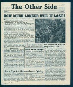 3rd Reich Germany V1 Rocket Flown Leaflet The Other Side Nr2 91597