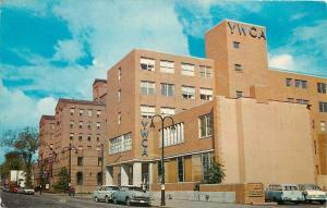 Toledo Ohio~YMCA and YWCA Bldgs 1950s Cars and Lamp Posts 1950s Postcard