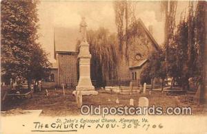 Churches Vintage Postcard Hampton, VA, USA Vintage Postcard St Johns Episcopa...