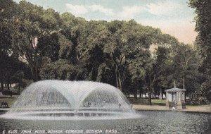 BOSTON, Massachusetts, 1900-1910s; Frog Pond Boston Common