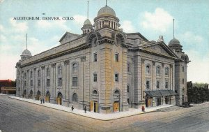 Auditorium, Denver, Colorado, Early Postcard, Unused