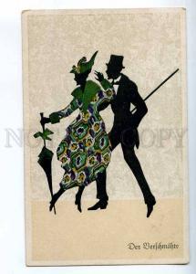 233213 Art Deco SILHOUETTE Dabcer by Marte GRAF Vintage PC