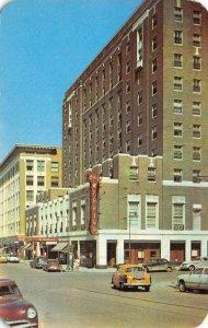 Sixth Street Scene SIOUX CITY Iowa Warrior Hotel c1950s Vintage Postcard