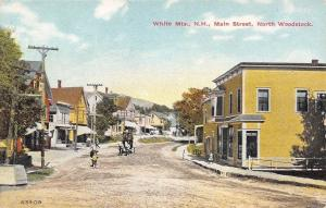 North Woodstock New Hampshire~Main Street~Shops & Homes~Boy Leading Horse~1908