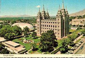 Utah Salt Lake City Temple Square Showing Mormon Temple