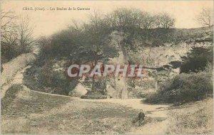 Old Postcard Creil (Oise) The Rocks Garenne