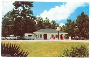 Old Town FL Suwannee Gables Drive-In Restaurant Postcard