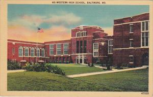 Western High School Baltimore Maryland