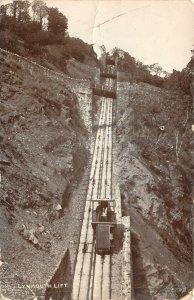uk51415 lynmouth lift real photo uk