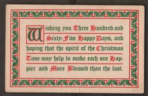 Christmas Greetings - Used c1908 - Slight Wear