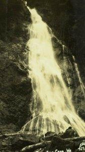 Vintage RPPC Rocky Brook Fall, Hood Canal Real Photo Postcard P72