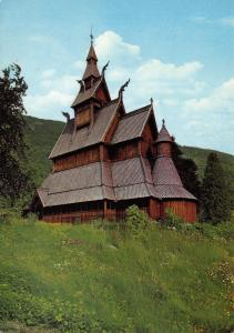 Vintage Norway Postcard, Hopperstad Stave Church, Vik in Sogn Z76