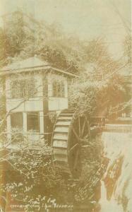c1910 Isle of Mann UK Croudlin Glen Waterwheel RPPC Photo Postcard