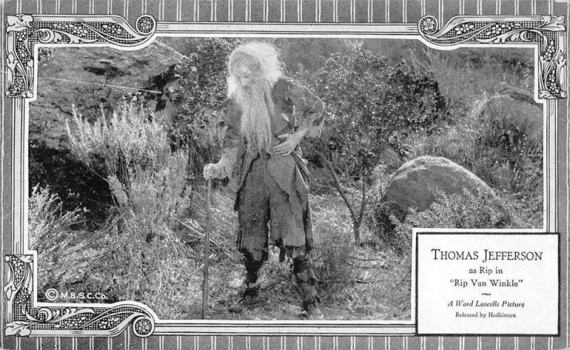 Thomas Jefferson in Rip Van Winkle Silent Film Vintage Postcard JA4741745