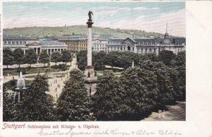 Schlossplatz Mit Konigs- u. Olgabau, Stuttgart, Germany, 1900-1910s